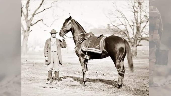 rare photo of Cincinnati war horse