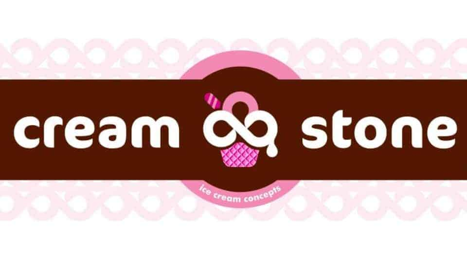 Cream stone ice cream logo