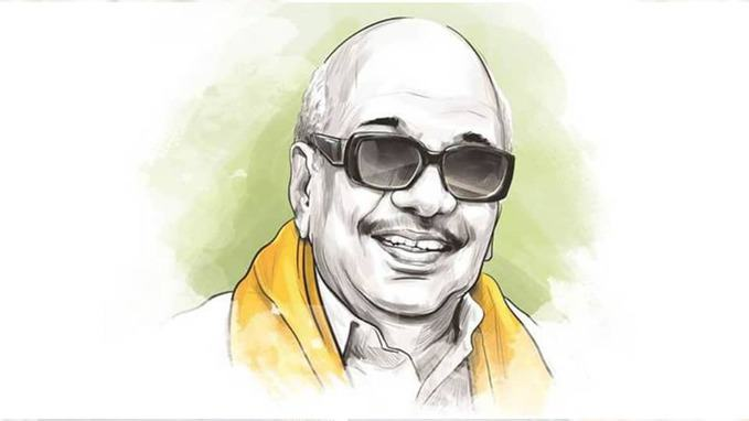 drawing of Karunanidhi