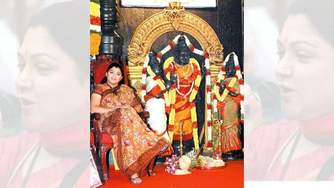 kushboo in kushboo temple