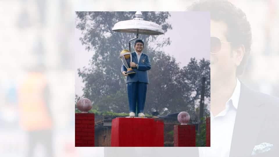 sachin tendulkar temple idol