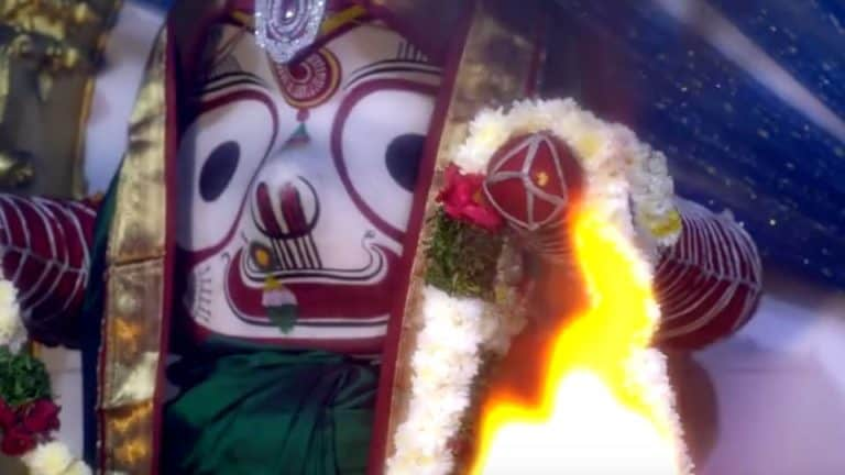 sri puri jagannath idol at puri jagannath temple hyderabad