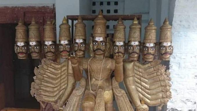 alampur jogulamba temple raavana idol