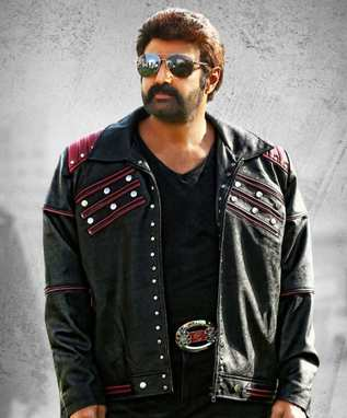 balakrishna in black suit
