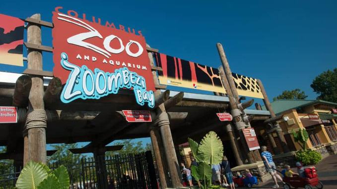 Entrance of Columbus Zoo and Aquarium