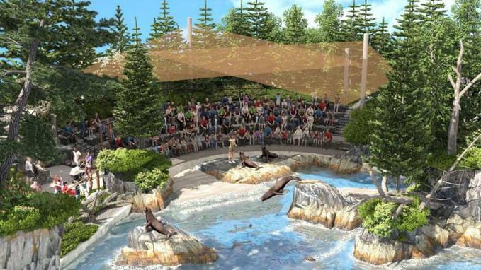 pool inside Henry Doorly Zoo