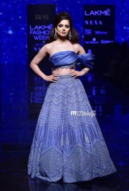 Kangana Ranaut in modern blue dress