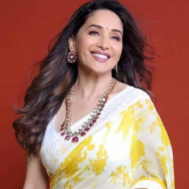 Madhuri Dixit in yellow saree