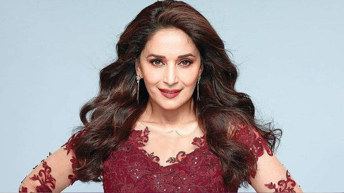 Madhuri Dixit in red dress