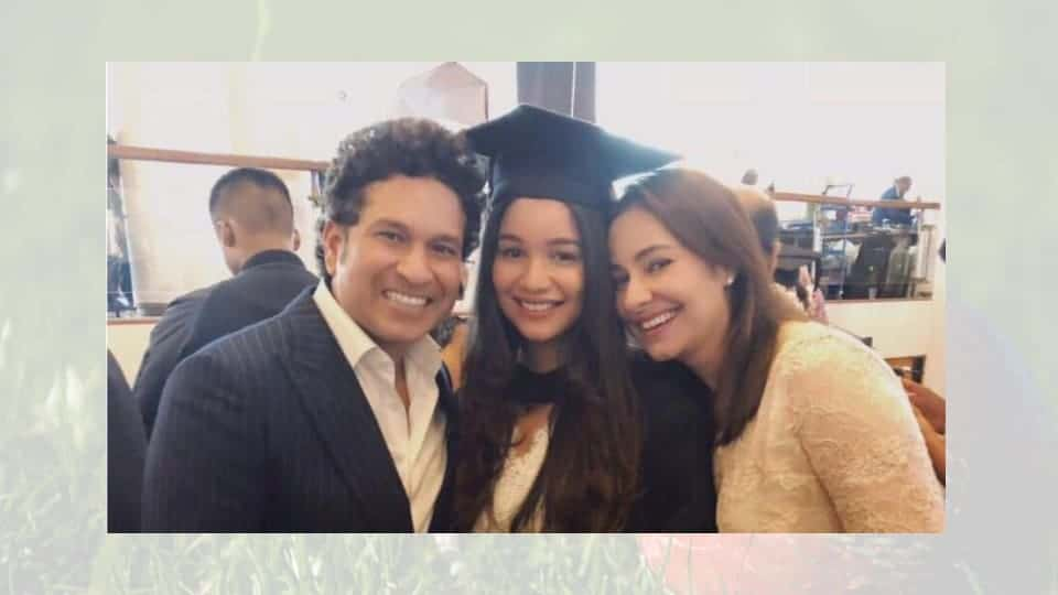 sara tendulkar with family