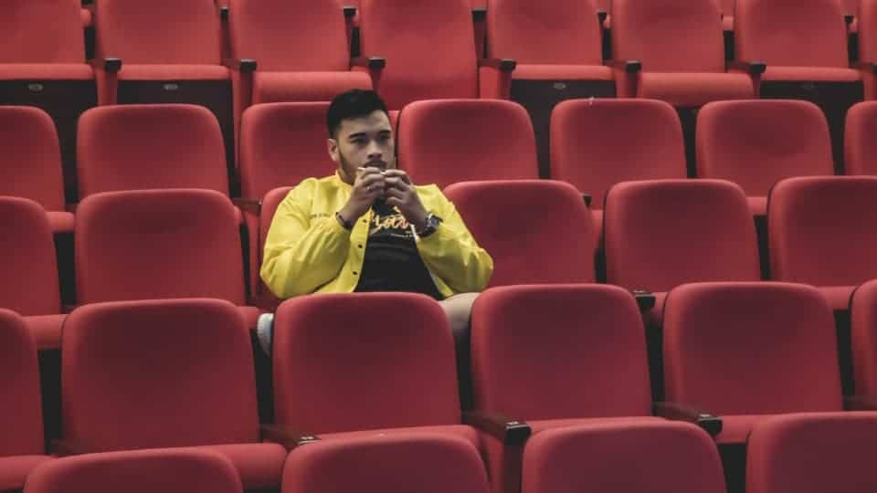 single person in a cinema hall effect of ott on cinema halls
