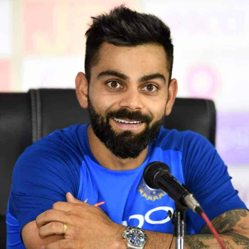 photo of Virat Kohli in indian jersey