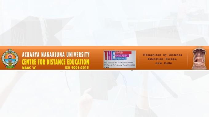 Acharya Nagarjuna University Cde