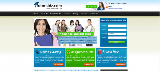 Tutorsbiz Website Screenshot